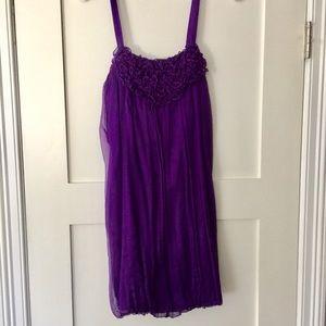 Alice + Olivia Purple Silk dress, size xs